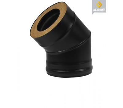 СЭНДВИЧ-КОЛЕНО 45° ВЕЗУВИЙ BLACK ДВУХКОНТУРНОЕ 150 x 250 ММ