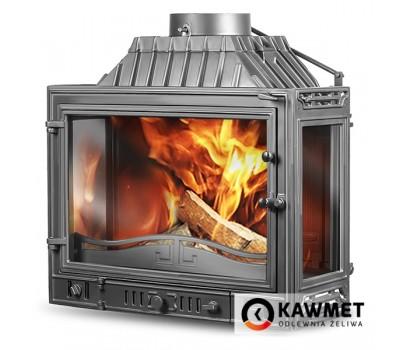 Каминная топка Kawmet W4PLB DUAL-14,5 кВт три стекла 14.5 kW